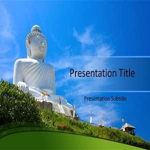 Buddha Powerpoint Templates   God Statue Powerpoint Slides