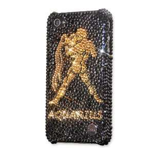 Aquarius Swarovski Crystal iPhone 4 Case   Black Gold