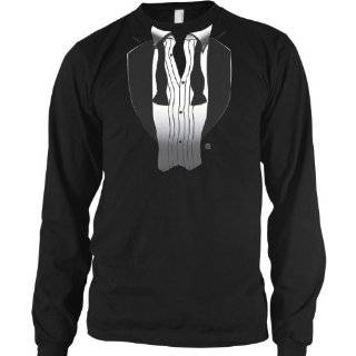After Party Tuxedo Mens Thermal Shirt, Funny Trendy Gag Fake Tux