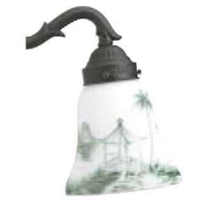 2 1/4 GREEN/WHITE ASIAN LANDSCAPE GLASS