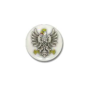 White Eagle Shadow Eagle Mini Button by CafePress Patio