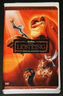 Disneys The Lion King VHS Platinum Special Edition 786936217612