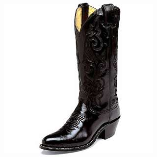 Womens JUSTIN 13 Black London Western Boots L4911