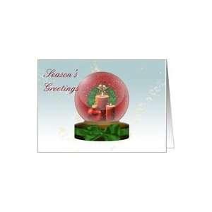 christmas ornaments snow globe Christmas Greeting Cards