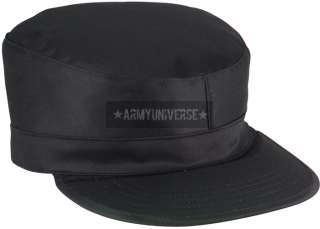Black Army Ranger Map Pocket Military Patrol Fatigue Cap