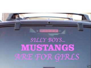 MUSTANG GT FORD GIRLS VINYL CAR WINDOW DECAL STICKER