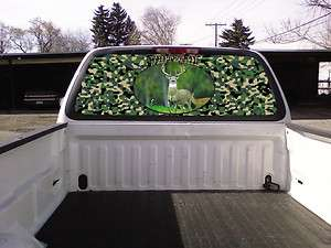 TRUCK Rear Window Graphic Decal Tint   WHITETAIL DEER HUNTING
