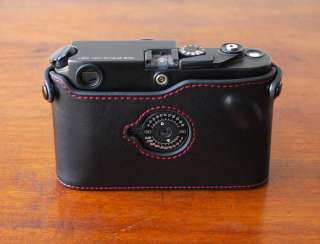 Mr. Zhou Black Leather Half Case Red Stitching for Leica M6 M7 MP with