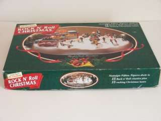 MINT* 1997 MR CHRISTMAS ROCK N ROLL NOSTALGIC FIFTIES HOLIDAY SKATERS