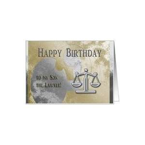 Happy Birthday to my Son the Lawyer, Legal Scales in