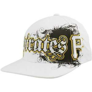 47 Brand Pittsburgh Pirates White Clawson Closer Flex Fit Hat: