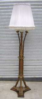 Great antique French Empire bronze floor lamp # 05652