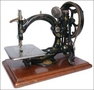 Early Willcox & Gibbs hand crank c s sewing machine working order 1889