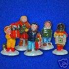 DEPT 56 SNOW VILLAGE CHRISTMAS KIDS SET OF 5 NIB 54922