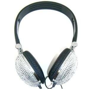 Crystal Rhinestone Bling Dj Over ear Headphones