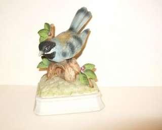 Vintage Gorham Blue Bird Jay Music Box Bisque Figurine