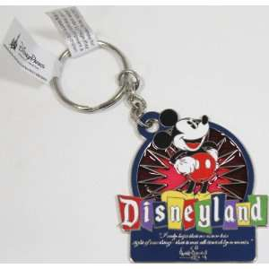 Disneyland Mickey Mouse / Walt Disney Quote Keychain   Disney Parks