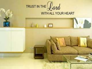 TRUST IN THE LORD Home Bedroom Wall Art Decal 36