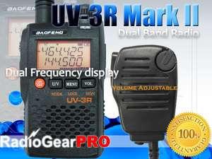 mode UV 3R Mark II Dual Band Radio + volume adjust speaker mic