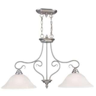 Kitchen Island Pendant Lighting Fixture Brushed Nickel, White Glass