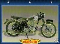 GOLD STAR 1950 Motorcycle Card Photo ZB 32 Classic British bike