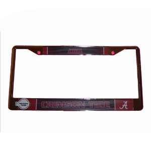 Alabama Crimson Tide NCAA Chrome License Plate Frame by