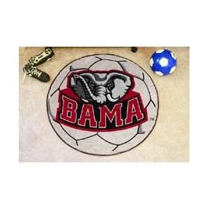 ALABAMA CRIMSON TIDE SOCCER SHAPED DOOR MAT RUG