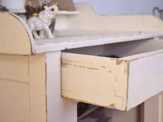 8694   Gorgeous Cream French Style Dry Sink Cabinet