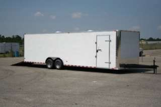 Enclosed Trailer Car Hauler Screwless One Piece Roof 5200 White 28