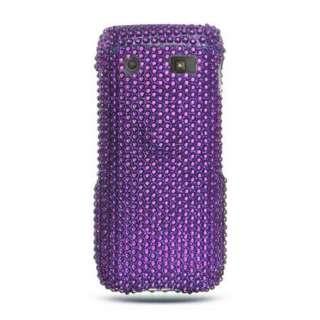 PURPLE Bling DIAMOND Case for BlackBerry PEARL 3G 9100