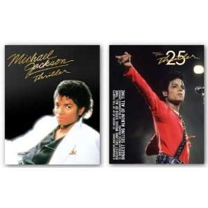 Michael Jackson   Thriller Album Cover and 25th