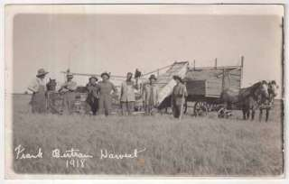 RP Postcard 1918 Horse Drawn Farming Equipment