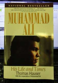 MUHAMMAD ALI SIGNED BIOGRAPHY EARLY 90S AUTO NO SCRIBBLE HAUSER PB