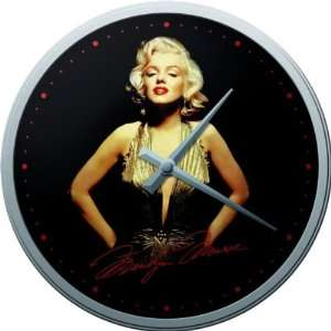 Marilyn Monroe Gold Dress wall clock
