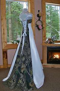 NEW Camo Wedding Gown/dress CUSTOM MADE  In the USA