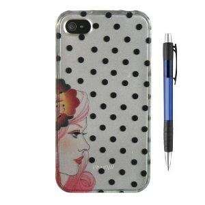 Girl With Black Dots Design Protector Hard Case Cover for