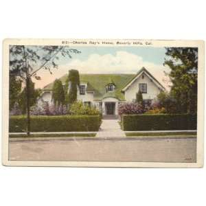1920s Vintage Postcard Home of Silent Film Star Charles Ray Beverly