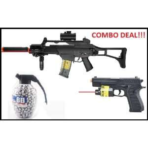 Double Eagle FULL AUTO ELECTRIC AEG G36 Airsoft Rifle FPS 200, Folding