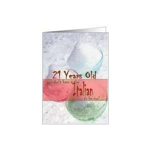 Cool Italian 21st Birthday Card: Toys & Games