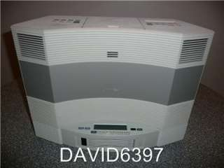 BOSE ACOUSTIC WAVE MUSIC SYSTEM II W/ 5 DISC CHANGER IN PLATINUM WHITE
