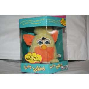 FURBY BABIES PINK W/WHITE TUMMY, YELLOW MOHAWK AND PINK