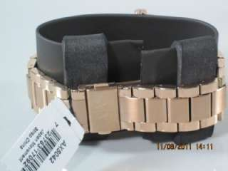 Armani Exchange Watch, Womens Rose Gold Stainless Steel Bracelet