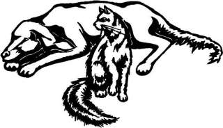 Dog & Cat Vinyl Decal Car Cycle Truck Window Sticker