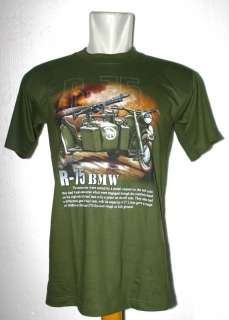 75 BMW Motorcycle World War Army Women Men Cotton Tee T Shirts T