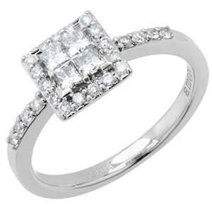 Amoro Diamond Ring in 18kt White Gold Carat Total Weight 0.51: Amoro