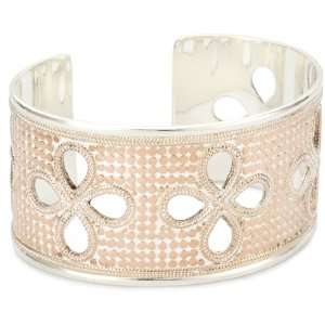Anna Beck Designs Gili 18k Rose Gold Plated Flower Cutout Cuff