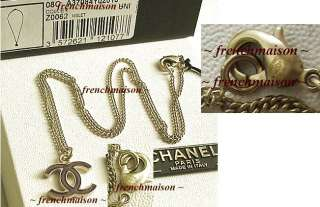AUTHENTIC CHANEL CC Logo VIOLET Enamel Charm Gold NECKLACE New