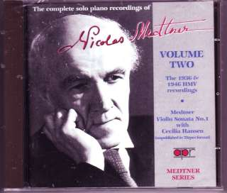 Solo Piano Recordings of Nicolas Medtner Vol 2 Sealed
