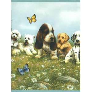 Wallpaper York York Kids 4 PUPPY BORDER YK0119BD: Home
