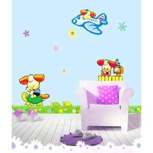 PUPPY ADHESIVE WALL DECOR MURAL STICKER CP 040